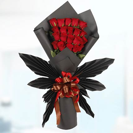 20 Red Roses Butterfly Bouquet