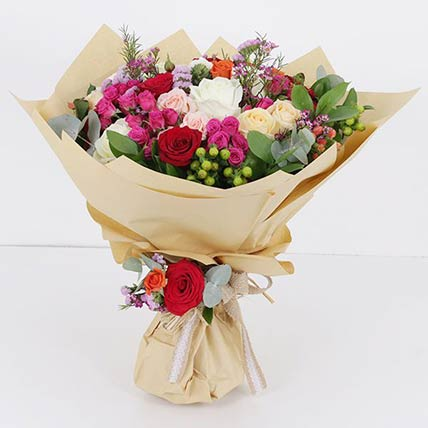 40 Mixed Flower Stems Bouquet