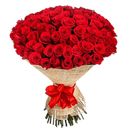 50 Elegant Red Roses Bouquet