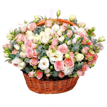 Basket Of Mesmerizing Flowers- Deluxe