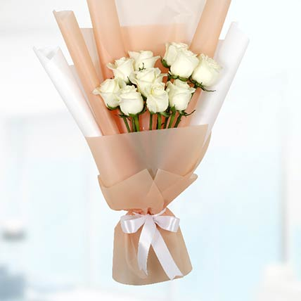 Bouquet Of 20 White Roses