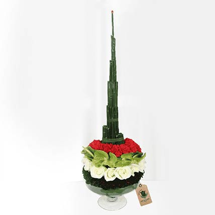 Burj Khalifa Shaped Flower Arrangement- Deluxe