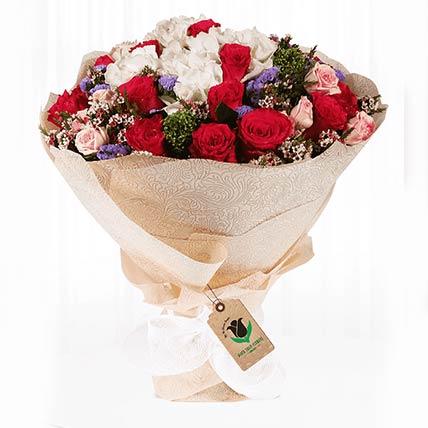 Memorable Mixed Flower Bouquet- Premium