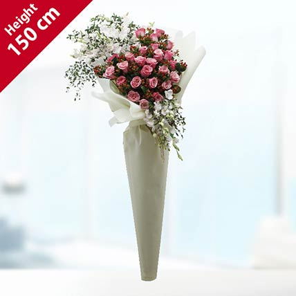 Pink Roses Bouquet- Deluxe