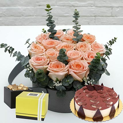 Delightful Tiramisu Cake & Patchi Chocolates