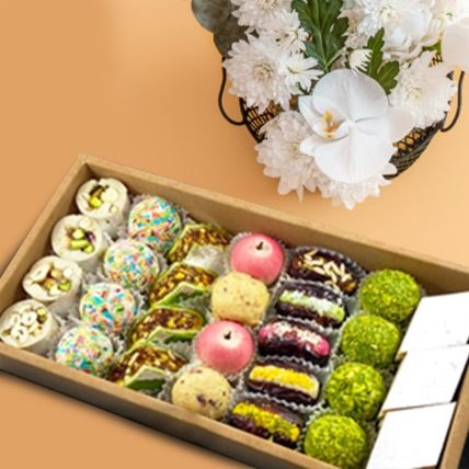 Assorted Box Of Dry Fruit Sweets 1 Kg