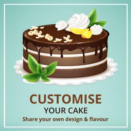 Customized Cake Chocolate 20 Portions