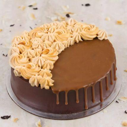 Eggless Chocolate Caramel Cake