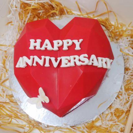 Happy Anniversary Pinata Cake
