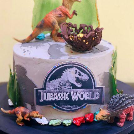 Jurassic World Red Velvet Cake