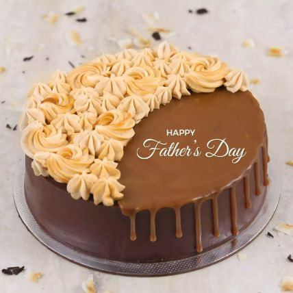 Chocolate Caramel Cake For Father 1.5 Kg