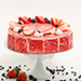 Strawberry Flavour Eggless Cake- Half Kg