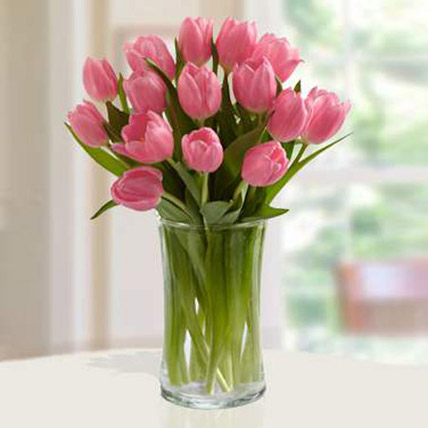 Pink Tulips Arrangement SA
