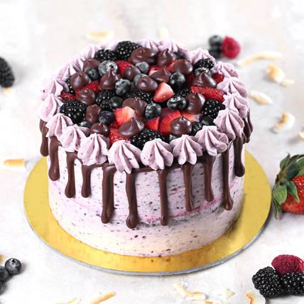 Delicious Chocolate Berry Cake Half Kg