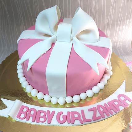 Baby Girl Gift Chocolate Cream Cake