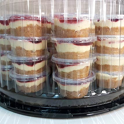 Classic Strawberry Mini Cheesecake 25 Pcs