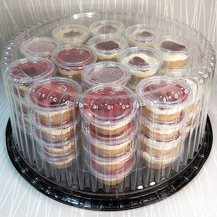 Classic Strawberry Mini Cheesecake 36 Pcs