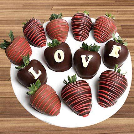 Love Belgian Chocolate Covered Strawberries