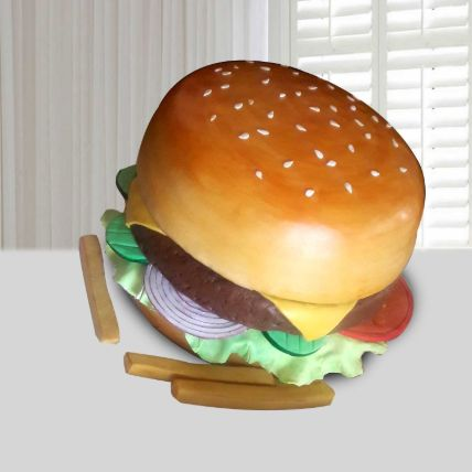 Burger Theme Cake 8 Portions Vanilla