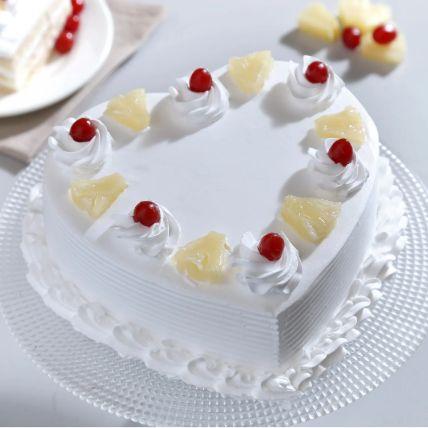 Heart Shaped Pineapple Cake 1 Kg