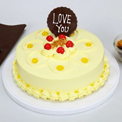 Love You Valentine Butterscotch Cake 1 kg