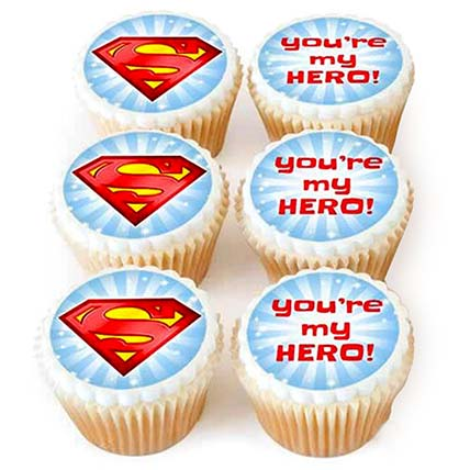 You Are My Hero Cupcakes