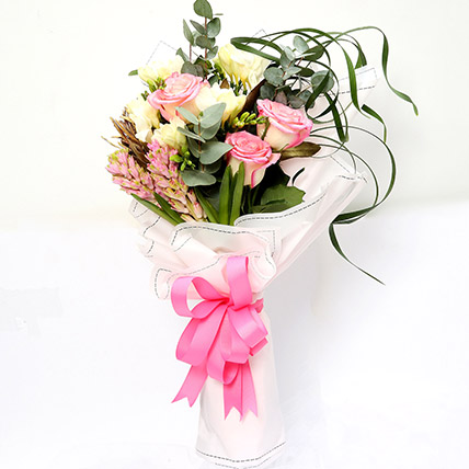 Endearing Roses and Freesia Bouquet SG