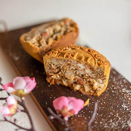 Mixed Nuts Box of 4 Moon Cakes