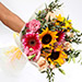Harmonic Roses and Suflower Mixed Bouquet SG