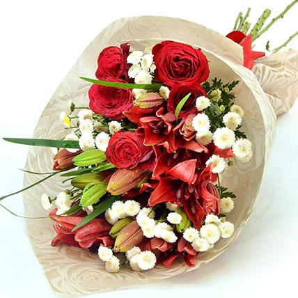 Online Lovely Bouquet Of Flowers Gift Delivery In Sri Lanka