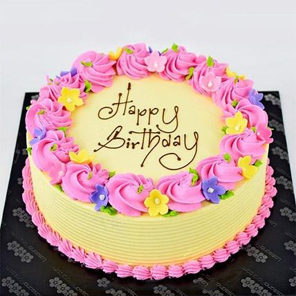 Vanilla Ribbon Cake