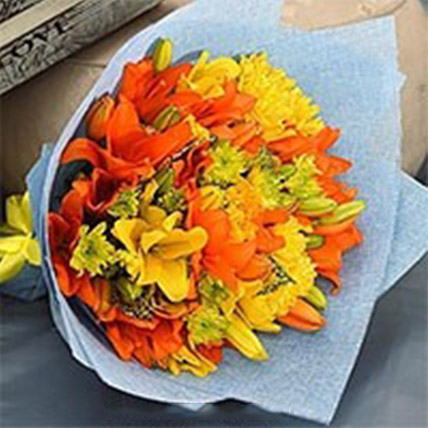 Vibrant Bouquet Of Mixed Flowers